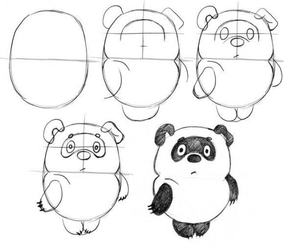 Пособия Уроки рисования как нарисовать винни пуха схема