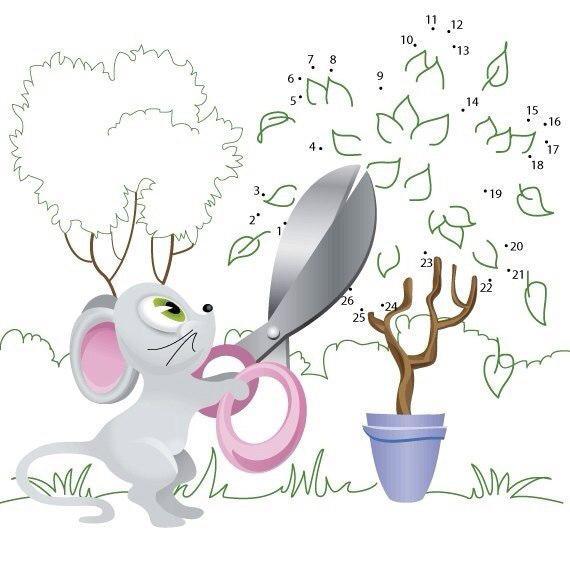 Пособия игры соединялка мышка и дерево, развивающие игры для детей