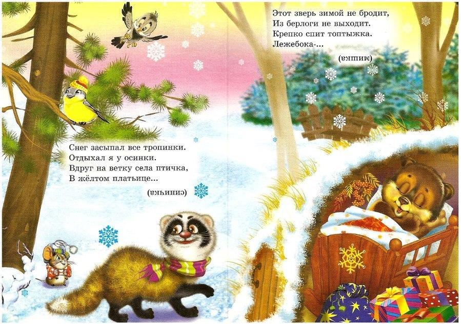 Пособия загадки загадки про медведя и синицу, детские загадки про животных с картинками