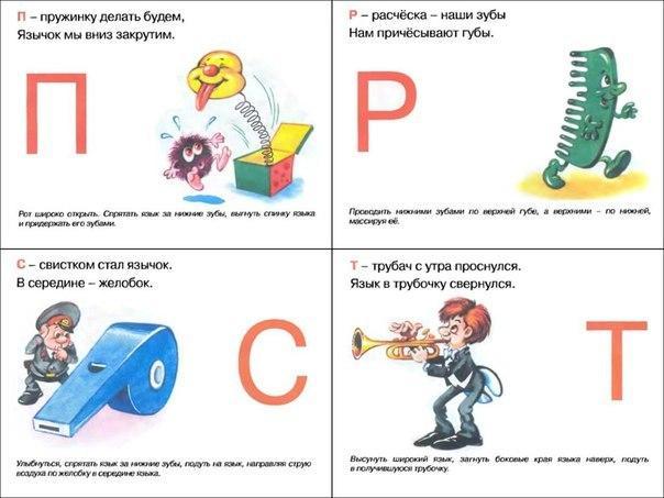Пособия артикуляционный артикуляционный алфавит, буквы п,р,с,т