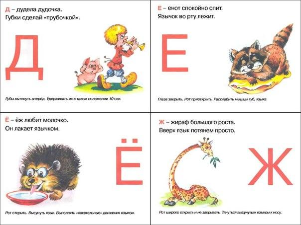 Пособия Алфавит артикуляционный алфавит, буква д,е,ё,ж, карточки русского алфавита распечатать