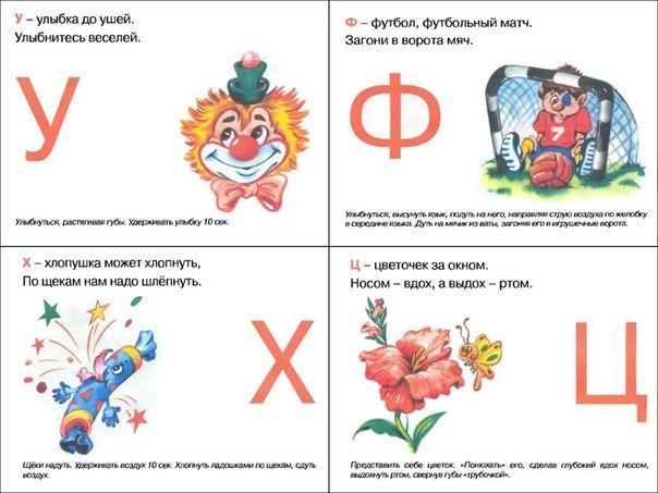 Пособия Алфавит артикуляционный алфавит, буква у,ф,х,ц, карточки алфавит звуки