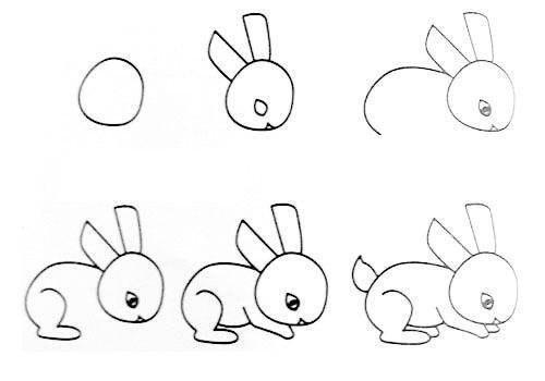 Пособия Уроки рисования как нарисовать кролика, уроки рисования