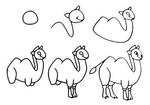Пособия Уроки рисования как нарисовать верблюда, уроки рисования для начинающих