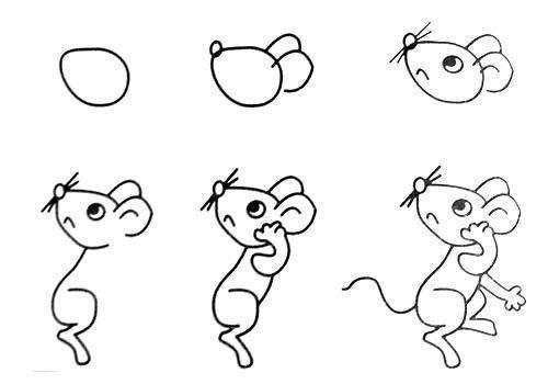 Пособия Уроки рисования как нарисовать мышь, уроки рисования поэтапно