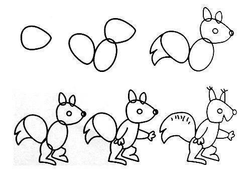 Пособия Уроки рисования как нарисовать белку, уроки рисования карандашом для начинающих