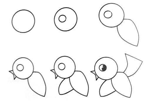 Пособия Уроки рисования как нарисовать птицу, уроки рисования изо