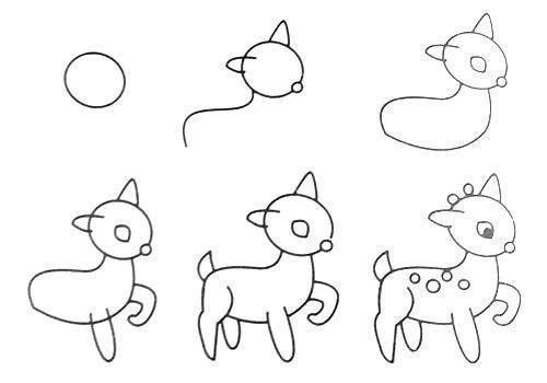 Пособия уроки как нарисовать олененка, уроки рисования для начинающих поэтапно