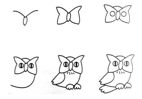Пособия Уроки рисования как нарисовать сову, уроки рисования 2 класс