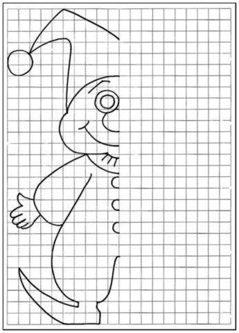 Пособия уроки клоун, рисуем по клеточкам для детей