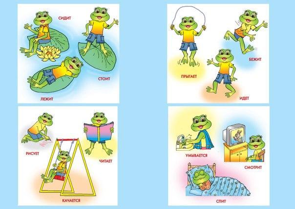 Пособия Карточки для развития речи действия, карточки для развития речи у малышей